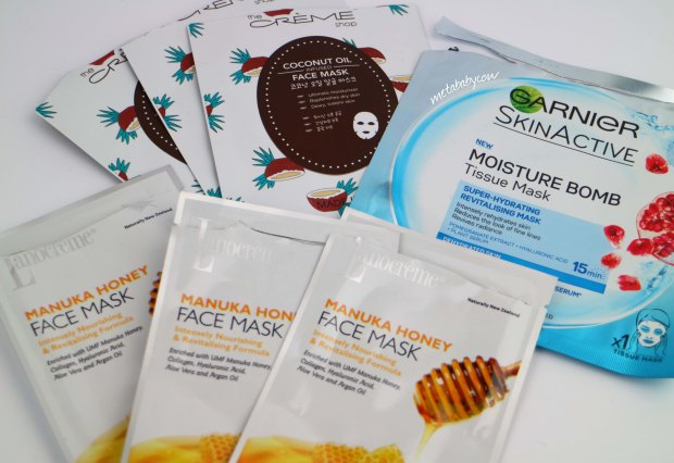 face-masks-honey-garnier-coconut